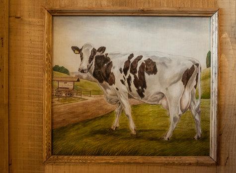 Malerei-Kuh