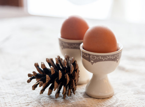 Gekochten Eiern Frühstück